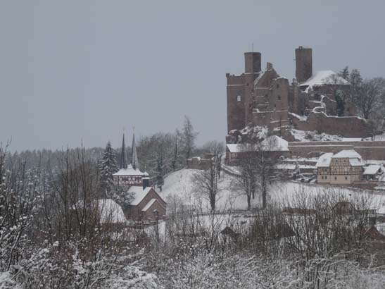 Burg Hanstein im Winter