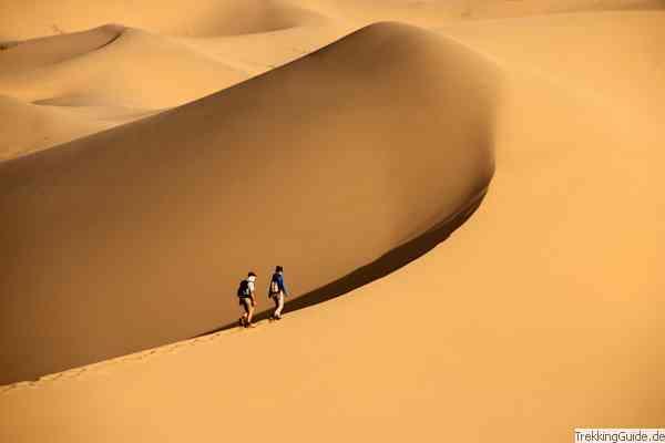 Wandern in der Wüste Gobi