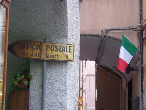 Post, Italien, Ligurien