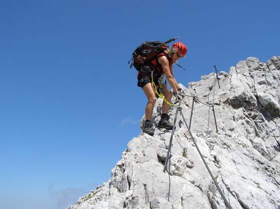 Klettersteig Watzmann : Fotogalerie tourfotos fotos zur klettersteig tour hochthron