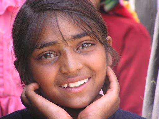 Moslem Mädchen aus Indien