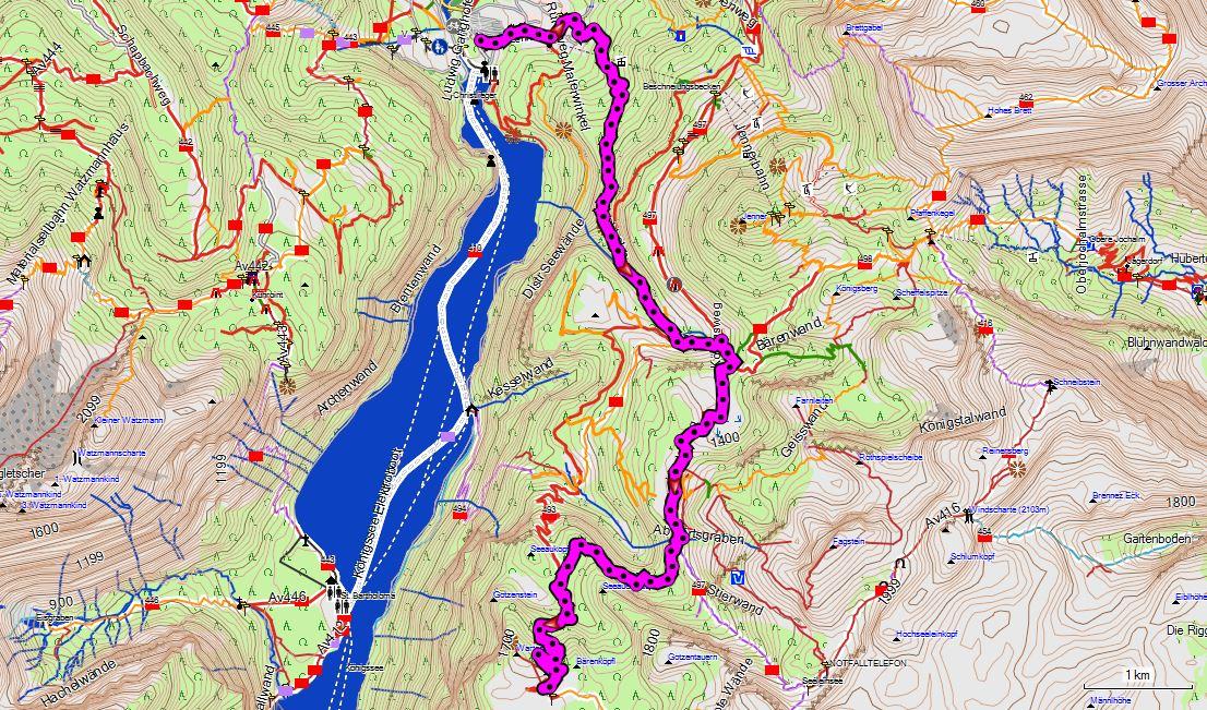 Watzmann Konigsee Steinernes Meer Wandern