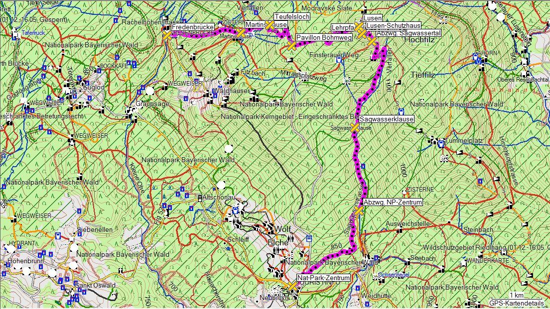 Nationalpark Bayerischer Wald Karte.Bayerischer Wald Wandern Trekking Radfahren Schneeschuhtouren