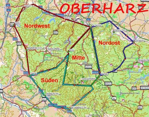 Wanderwege Deutschland Karte.Wandern Und Trekking Im Harz
