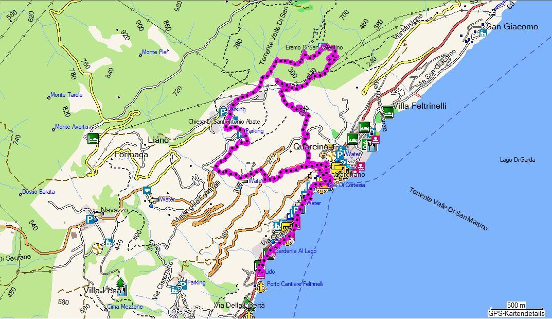 Karte Italien Gardasee.Wanderungen Am Gardasee