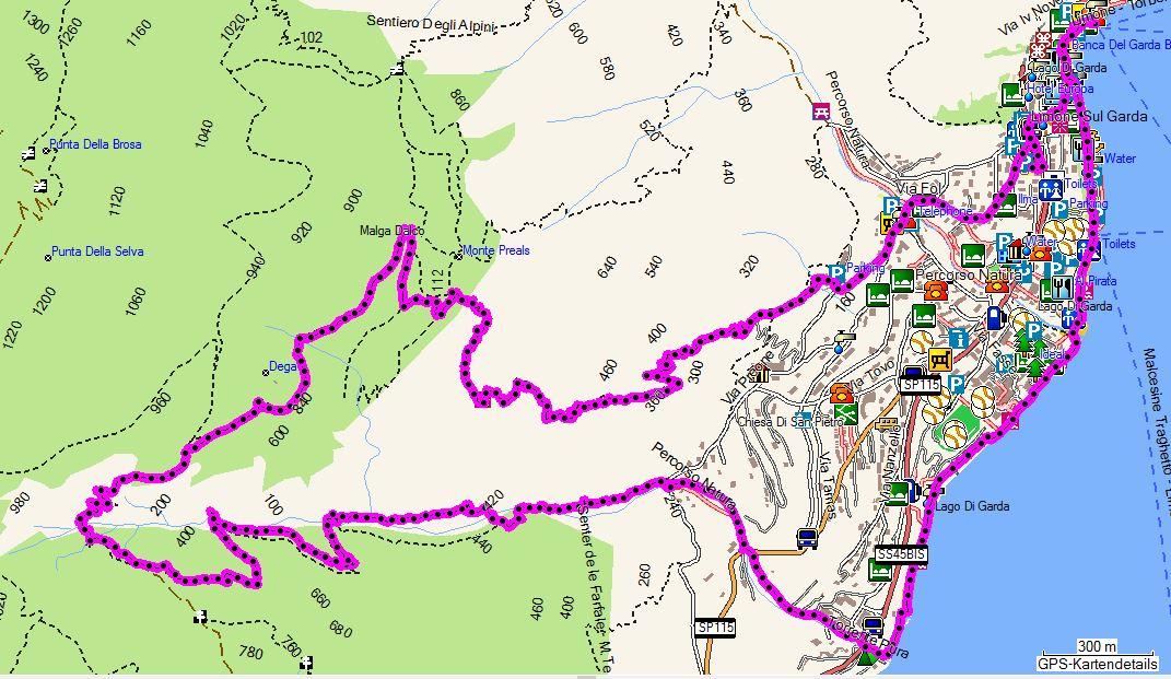wanderwege gardasee karte Wanderungen am Gardasee